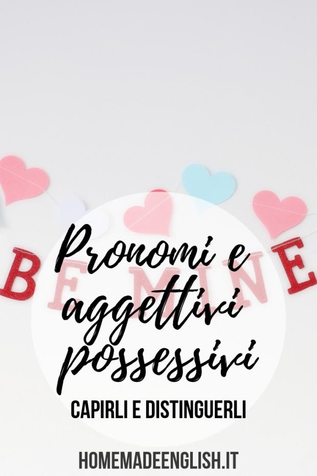 Pronomi e aggettivi possessivi