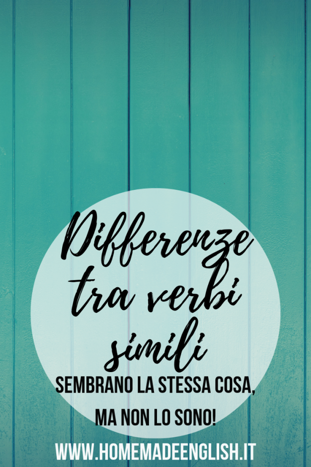 Differenze tra verbi